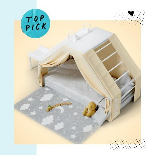 The new Vuly Den turns a very ordinary bedroom into your very own indoor camping adventure! Complete witha quality foam mattress, a play fort with an extendable cover included – you will go from ultimate bed fortress to camping adventure by night! RRP $1299